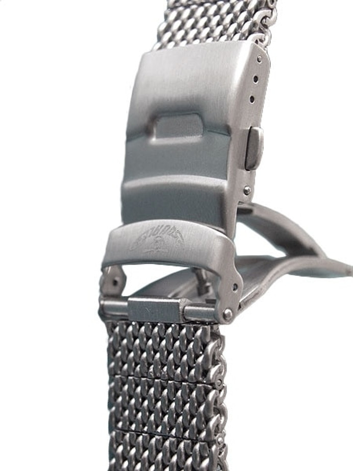 Squale Polished Mesh Bracelet #1521 (Straight End, 20mm)