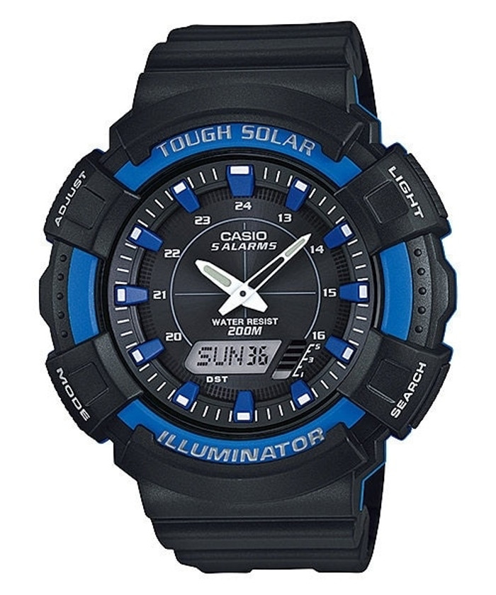 Casio Tough Solar-Light Powered Analog-Digital Watch with Alarm and Stopwatch #AD-S800-2A2V