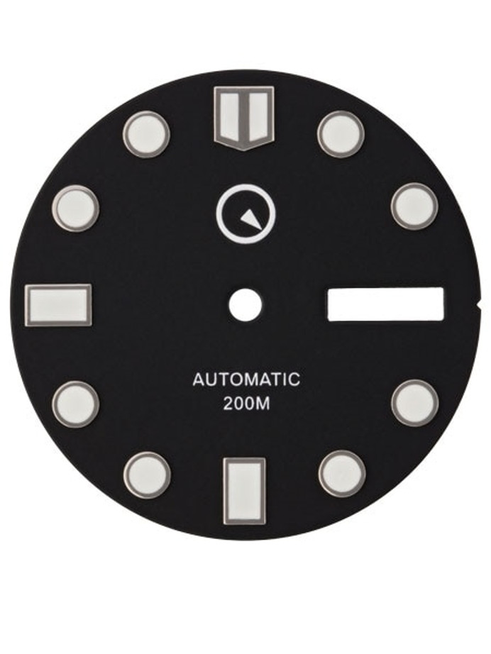 Black Dial with SuperLuminova for Seiko 7S26, NH36 and 4R36 Movements #D01