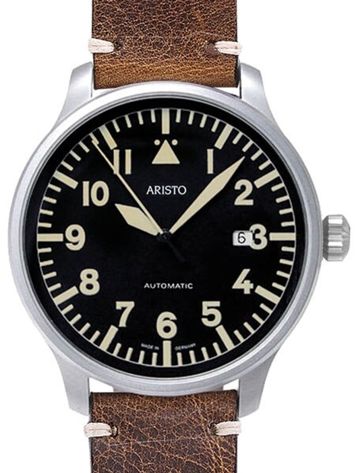 Aristo 42mm Swiss Automatic Aviator Watch with Sapphire Crystal #7H102