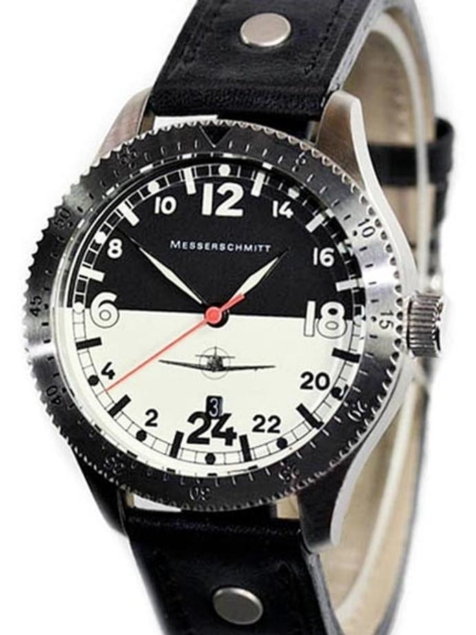 Messerschmitt 24 hour Watch with a Luminous Dial #ME108DR-24