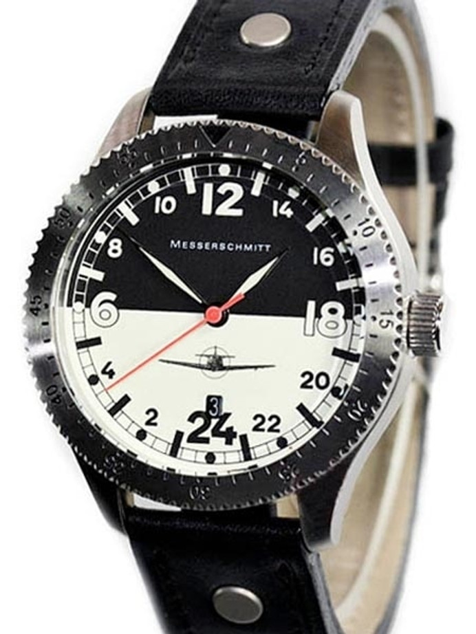 Messerschmitt 24 hour Watch with a Luminous Dial #ME108DR-24