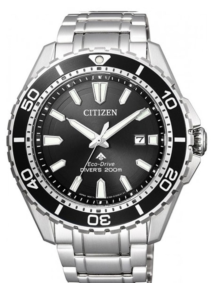 Citizen Eco-Drive Promaster 200 Meter Scuba Diver Watch with Bracelet #BN0190-82E
