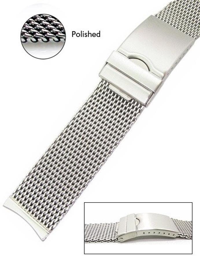 Vollmer Polished Mesh Bracelet #99460H4 (Curved End, 20mm)