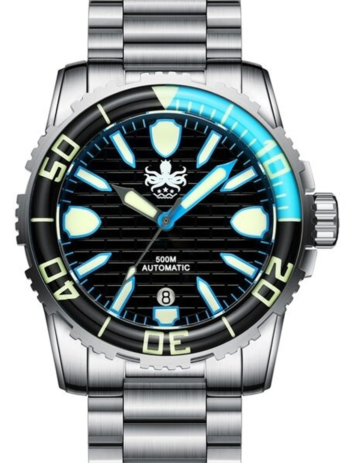 PHOIBOS 500-Meter Great Wall Swiss ETA Automatic Dive Watch with DD AR Sapphire Crystal #PY022C