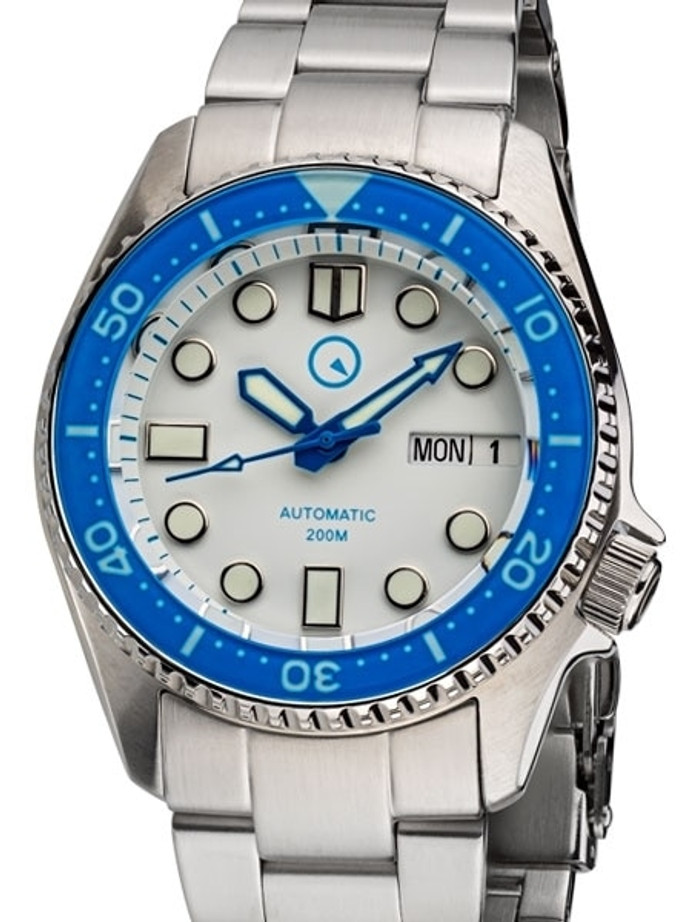 Islander 38mm Automatic Dive Watch with Solid-Link Bracelet, AR Sapphire Crystal, and Luminous Sapphire Bezel Insert #ISL-25