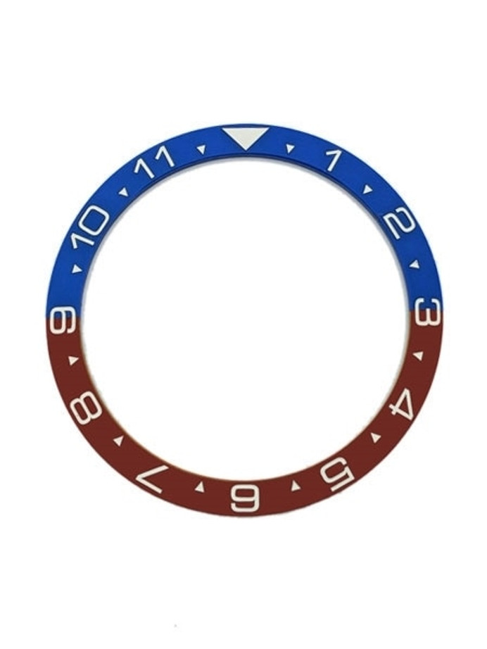 """Pepsi"" (Dual-Time) Ceramic Luminous Bezel Insert for Seiko SKX007, SKX009, SKX011 #C15"
