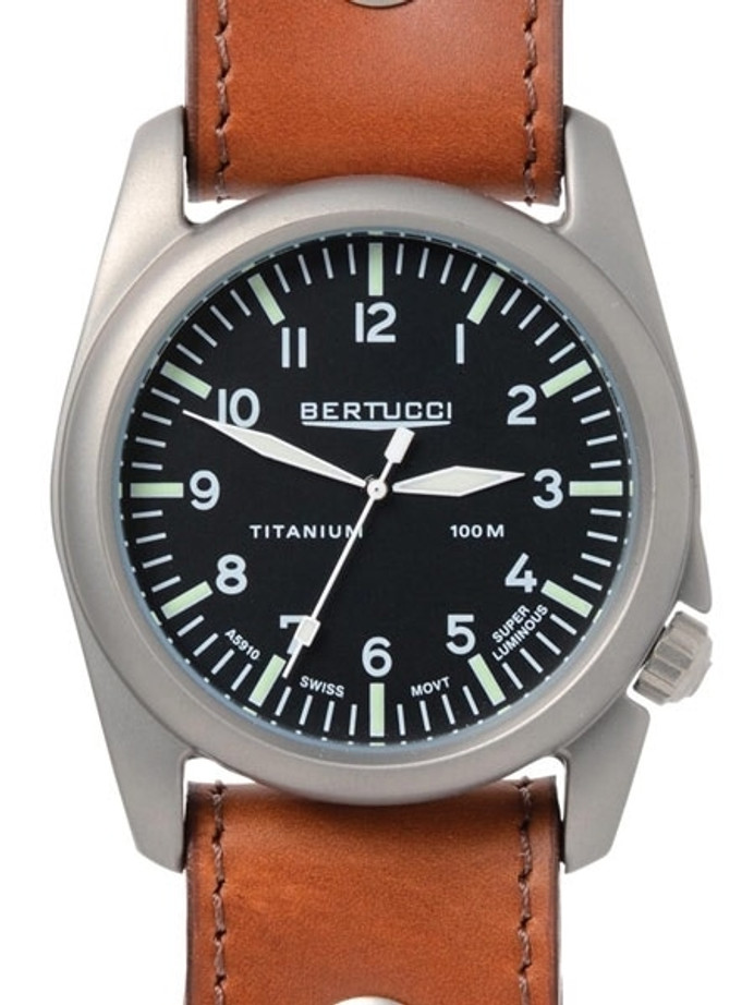 Bertucci A-4T Titanium Aero Field Watch with Swiss Quartz Movement #13401