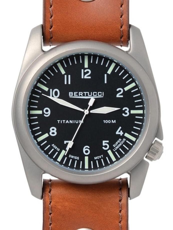 Bertucci A-4T Titanium Aero Field Watch with Swiss Quartz Movement #13401