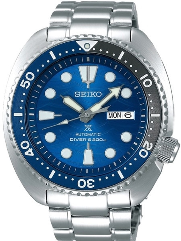 Seiko Save the Ocean Prospex Turtle Automatic Dive Watch with Stainless Steel Bracelet #SRPD21