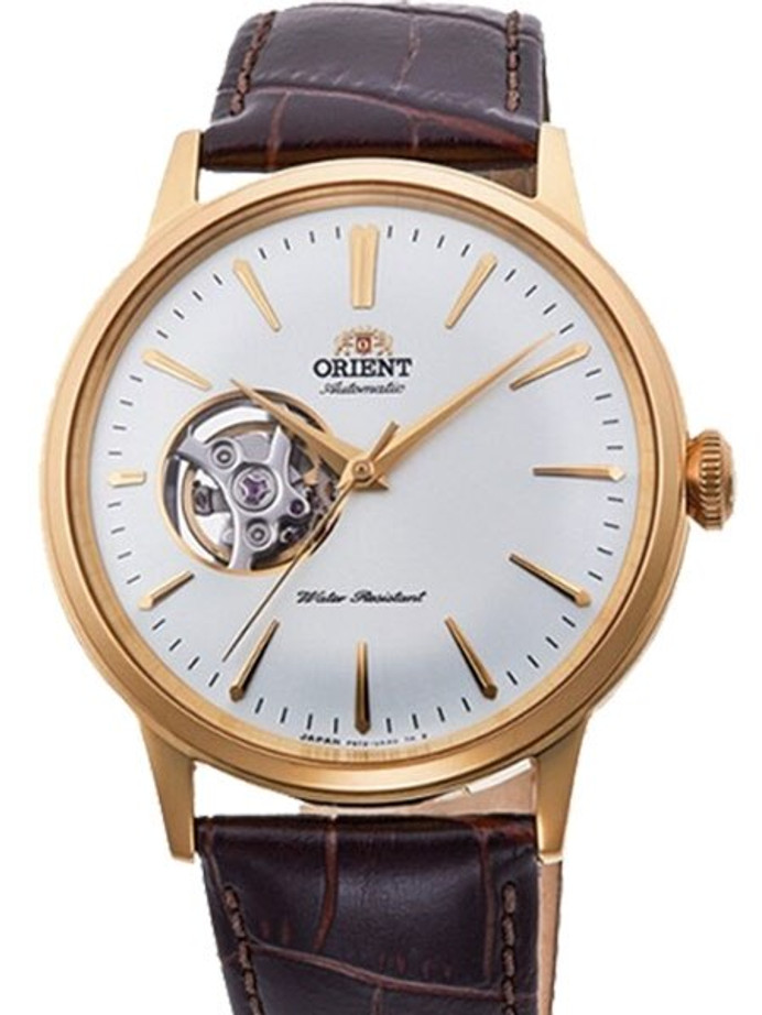 Orient Open-Heart Automatic Dress Watch with White Dial #RA-AG0003S10A