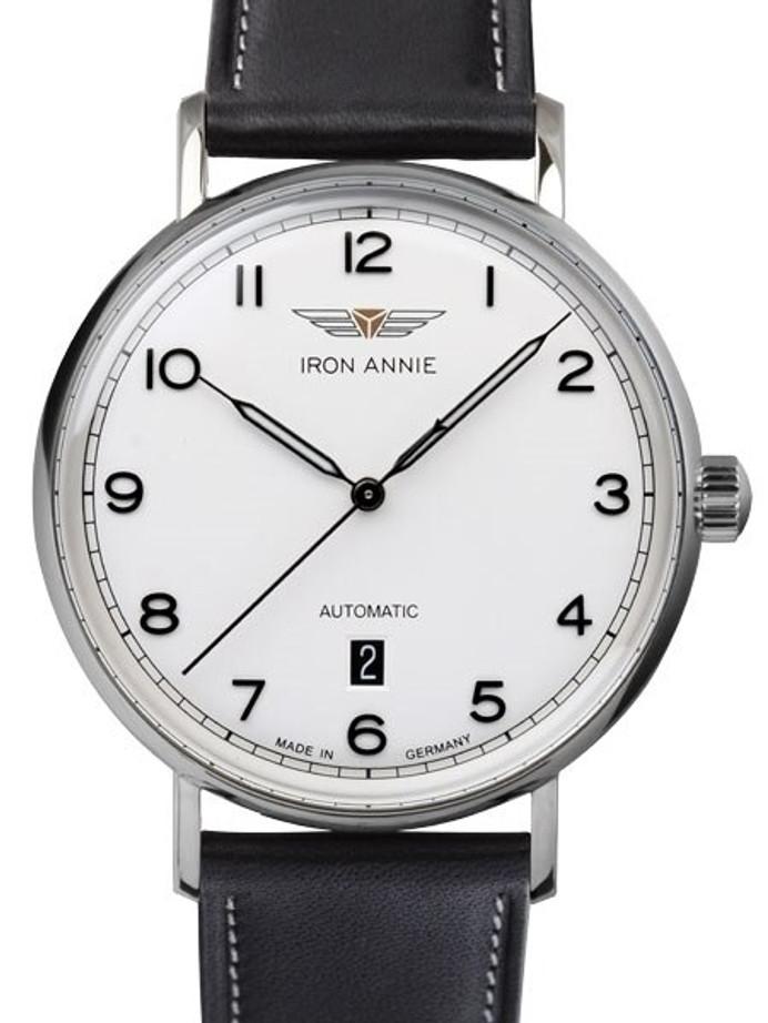 Iron Annie Amazonas Impression Swiss Automatic Dress Watch with White Dial, Date #5954-1