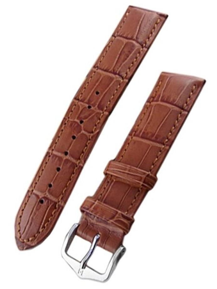 Hirsch Duke Honey Brown Alligator Embossed Leather Watch Strap #010280-70