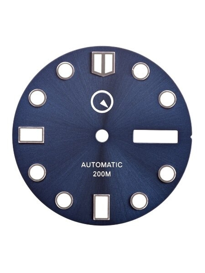 Dark Blue Dial with SuperLuminova for Seiko 7S26, NH36 and 4R36 Movements #D08