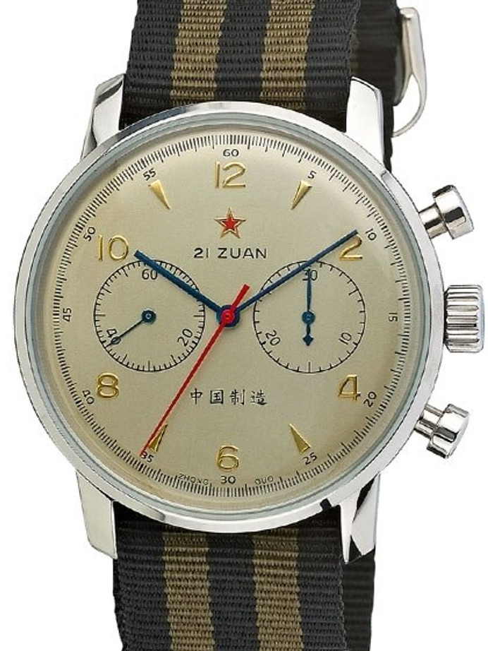 Scratch and Dent - Seagull 1963 Hand Wind Mechanical Chronograph with Goldtone Dial #6488-2901C 10