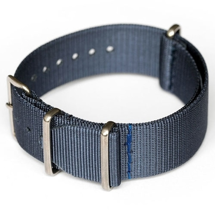 ADPT Navy Nylon Strap with 316L Stainless Steel Buckle and Keepers  #MSN-ADPTNAV