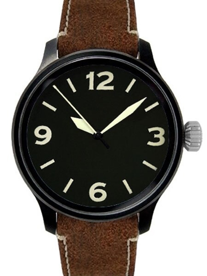 Aristo 42mm Aviator Swiss Automatic Watch with Sapphire Crystal #0H09