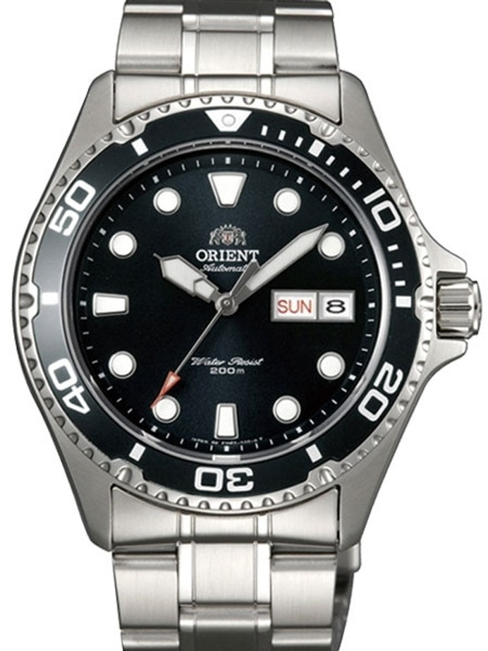 Customized Orient Ray II Black Dial Automatic Dive Watch #AA02004B