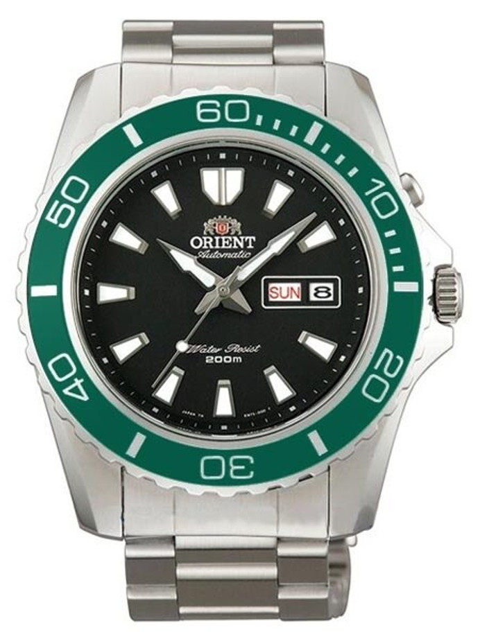 Orient XL 21-Jewel Automatic Dive Watch with Green Bezel  #CEM75003B
