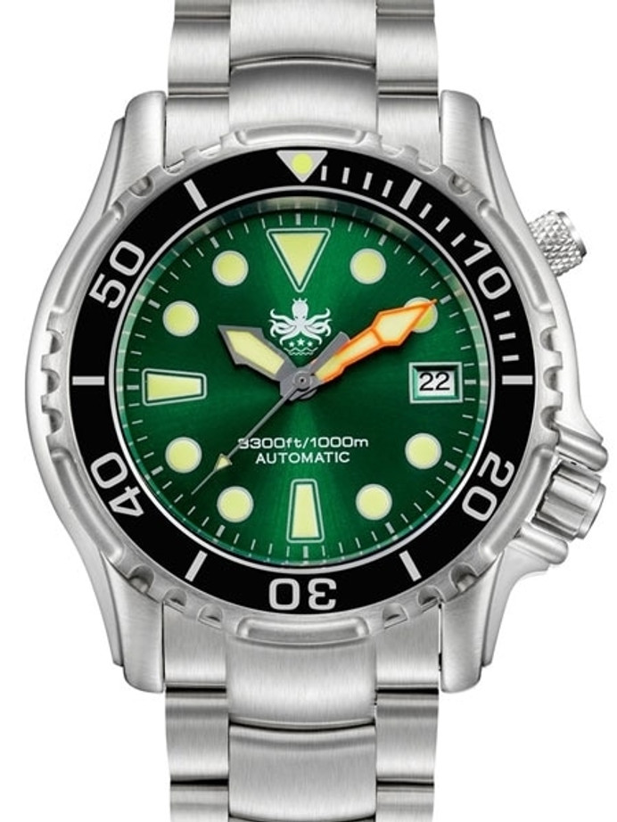 PHOIBOS 1000-Meter Ocean Master Automatic Dive Watch with Sapphire Crystal #PY005A