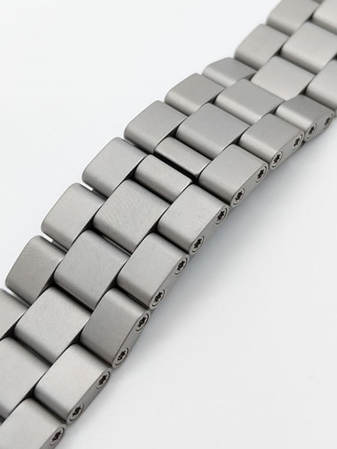Damasko Ice-Hardened Stainless Steel Bracelet #DC6X-Steel (Curved End, 22mm)