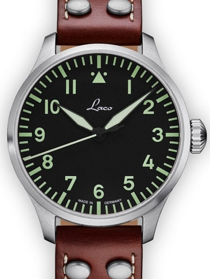 Laco 42mm Augsburg Type A Dial Automatic Pilot Watch, New Sapphire Crystal #861688