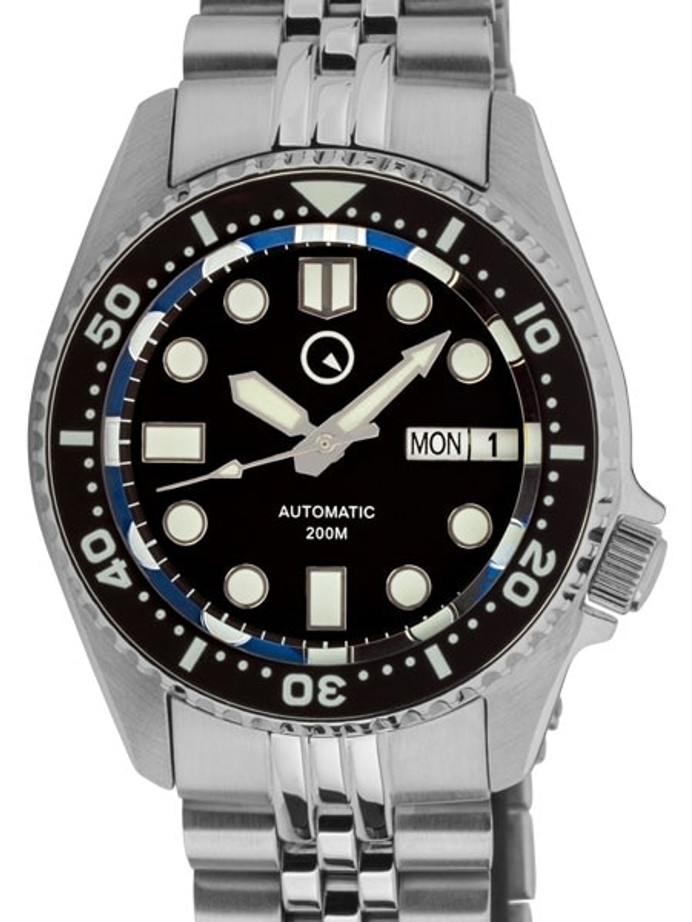 Islander 38mm Automatic Dive Watch with Solid-Link Bracelet, AR Sapphire Crystal, and Luminous Ceramic Bezel Insert #ISL-05
