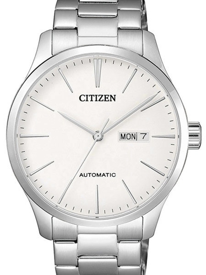 Citizen Automatic White Dial Watch with Stainless Steel Bracelet #NH8350-83A