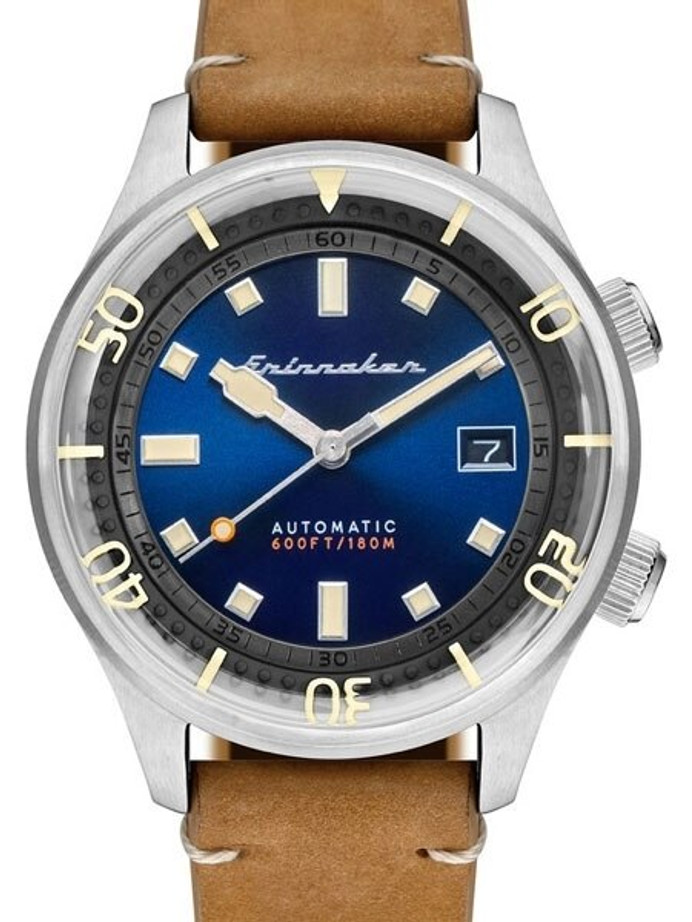 Spinnaker Bradner 42m Vintage-Style Automatic Sport Watch with a Luminous Bezel #SP-5062-05