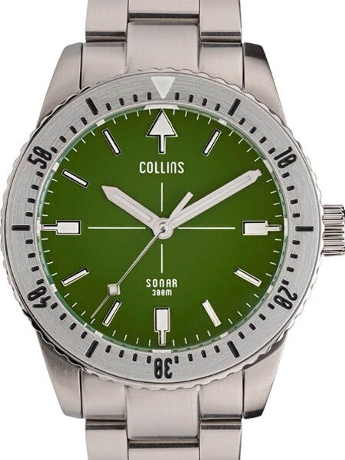 Collins SONAR Swiss Automatic, 300-M Dive Watch with 39.5mm Case and a Sapphire Crystal #CWC06