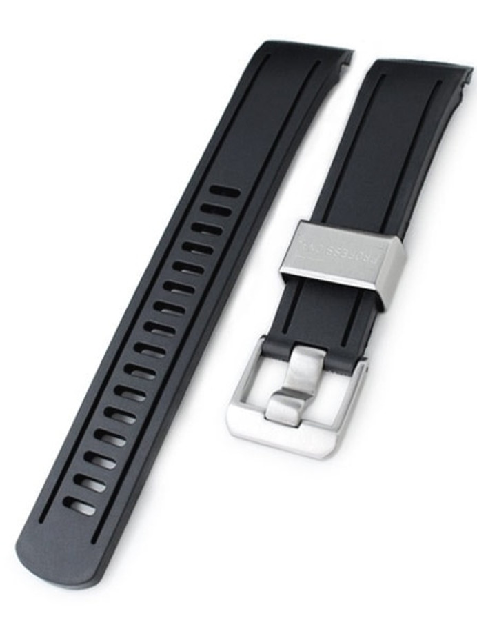 Crafter Blue 22mm NBR Rubber Watch Strap for SEIKO SKX007-009-011 Curved End #CB05A-22A20BZZ