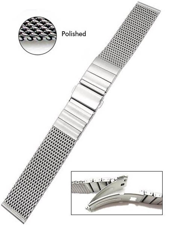 Vollmer Polished Mesh Bracelet #0600SH4 (22mm)