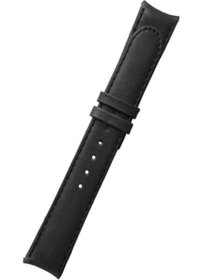 Formex 22mm ESSENCE Black Leather Strap (without clasp) #CLBS.0330.713