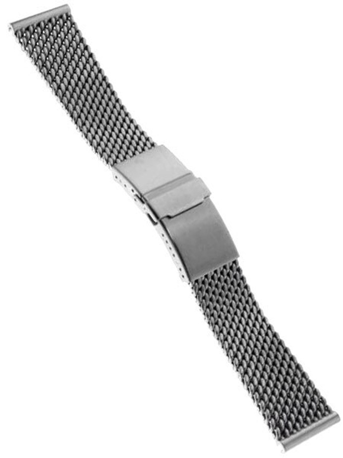 Scratch and Dent - STAIB Satin Finish Mesh Bracelet #STEEL-2784-20704APB-S (Straight End, 22mm)