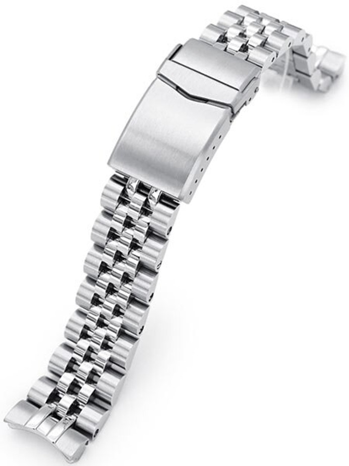 """Strapcode 20mm ANGUS-J """"Louis"""" 316L Stainless Steel Watch Bracelet for for Seiko Baby Turtle Models, V-Clasp #SS201820B074"""