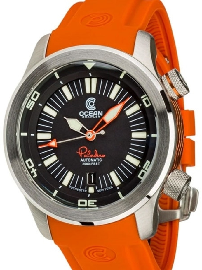 Ocean Crawler 600-Meter Paladino WaveMaker Swiss Automatic Dive Watch with Inner Rotating Bezel #1331