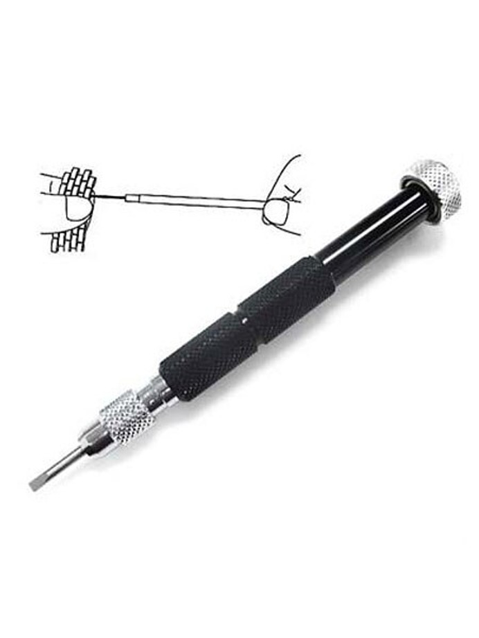 Aluminum Screwdriver for Watch Bracelets with Three Spare Blades #TUM2032