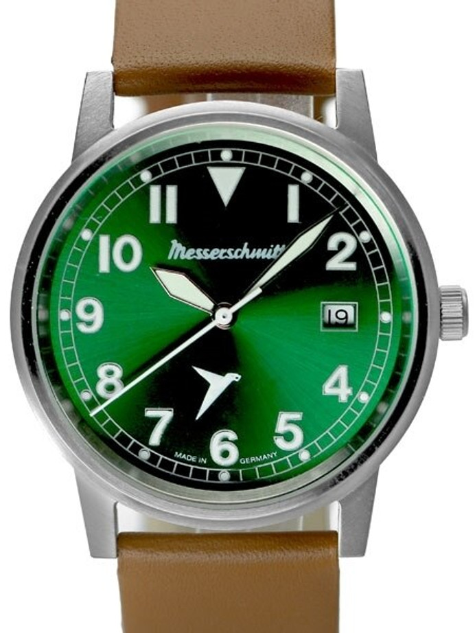 Messerschmitt 38.5mm Stainless Steel Case Aviator Watch #ME-9673-02