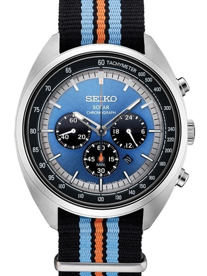 Seiko Recraft Solar Quartz Chronograph with Stop-Watch and 24-hour Sub-Dial  #SSC667
