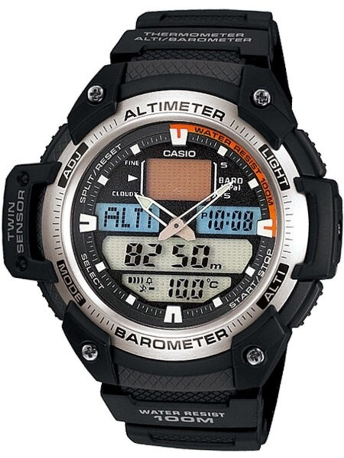 Casio Analog-Digital Altimeter/Barometer/Thermometer/Chrono and Alarm Watch #SGW-400H-1BV