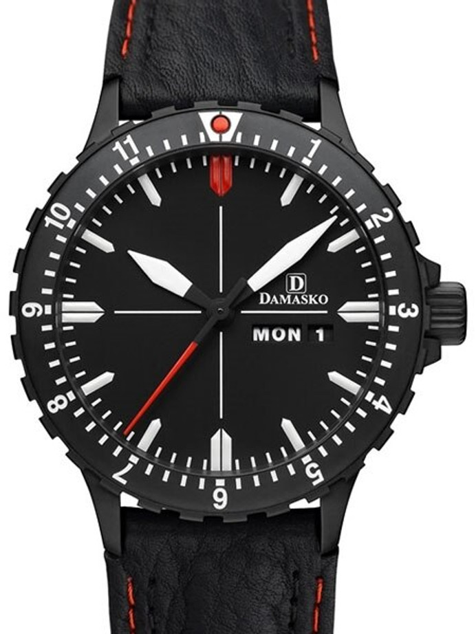 Damasko Swiss ETA Automatic with a Rotating 12-Hour Bezel and Stainless Steel Case #DA44BK