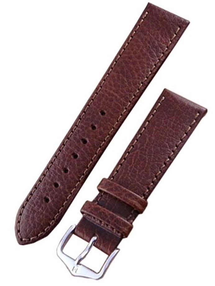 Hirsch Forest Brown Soft Calf Leather Watch Strap #179202-10