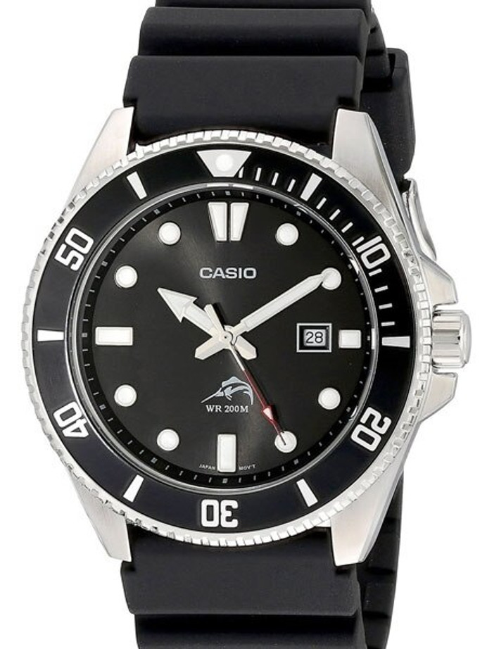 Casio 200 Meter Stainless Steel Quartz Dive Watch with Rotating Bezel #MDV-106-1A