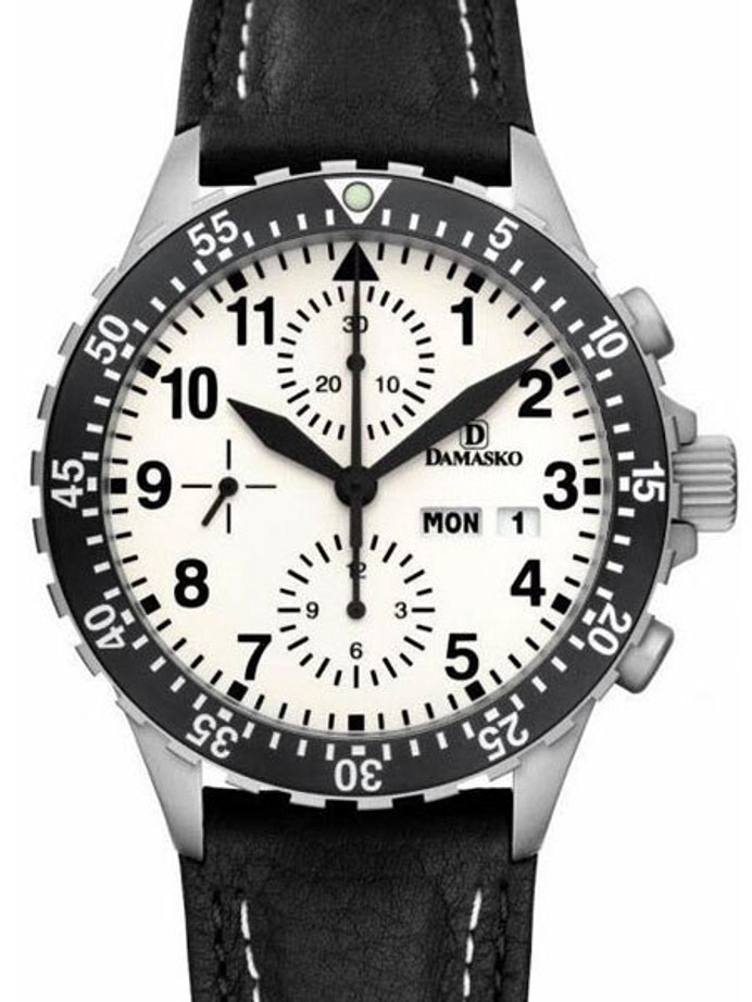 Damasko Swiss Valjoux 7750 Chronograph with Lume Dial and 60 Minute Dive Bezel #DC67