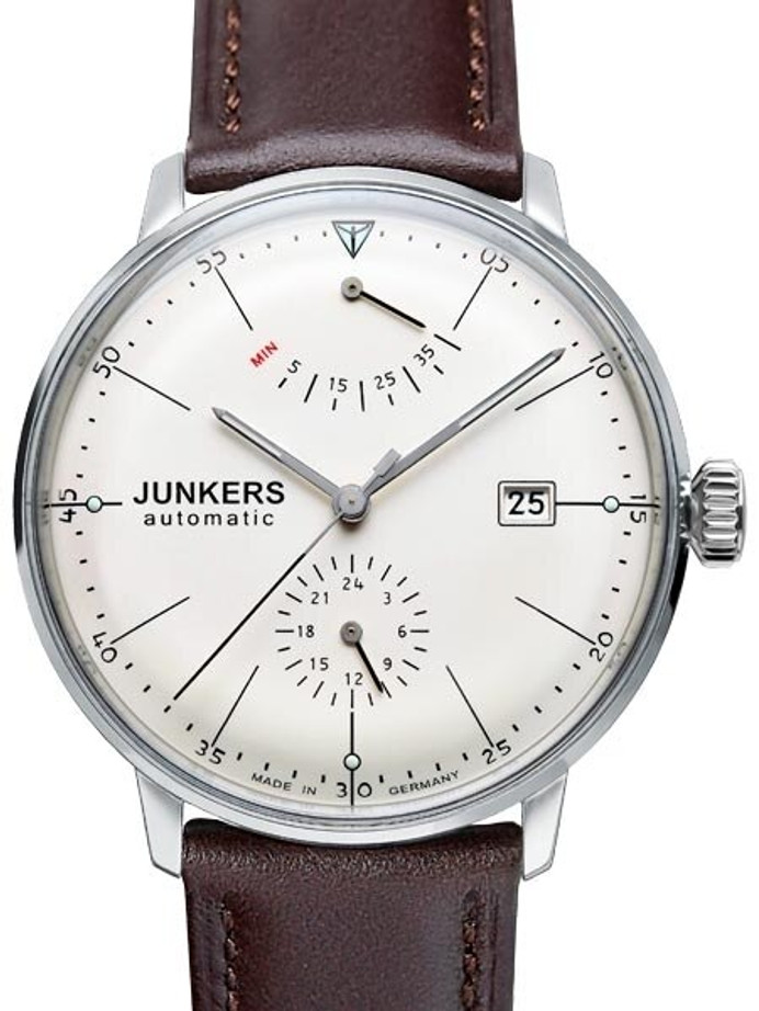 Junkers Bauhaus Automatic Watch with Power Reserve and 24hr Subdial #6060-5