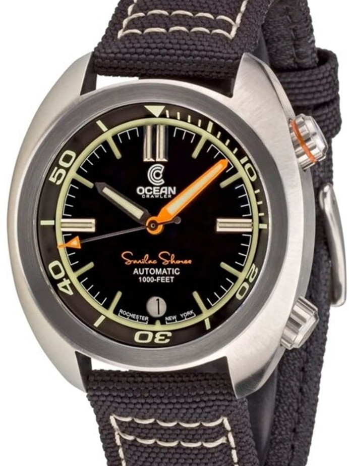 Ocean Crawler Great Lakes 300-Meter Dive Watch with Swiss Movement and Black Dial #CD-1231