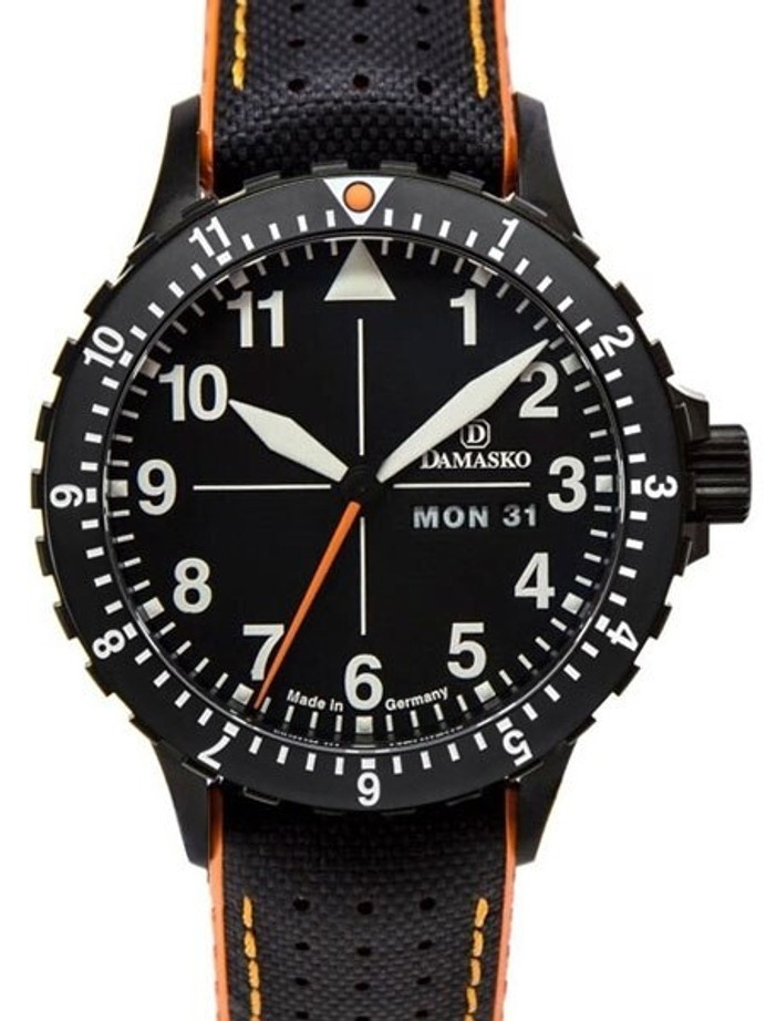Damasko Swiss ETA Automatic with a Rotating 12-Hour Bezel and Black ion plated SS Case #DA42