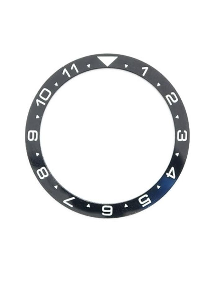 Black Ceramic Luminous (Dual-Time) Bezel Insert for Seiko Turtle Watches #C11