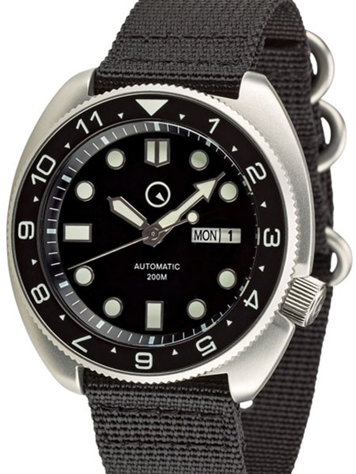 Manufacturer Refurbished - Islander Automatic Dive Watch with AR Double Dome Sapphire Crystal, and Luminous Dual-Time Bezel Insert #ISL-11