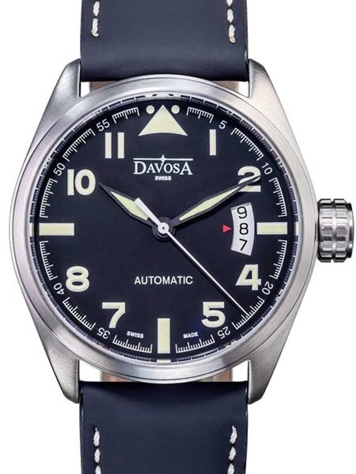 Davosa Military Swiss Automatic 200 Meter Pilot Watch with Black Dial #16151154